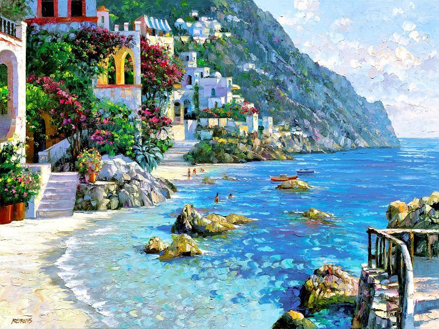 "Howard Behrens - ""Portofino Day at the Beach"""