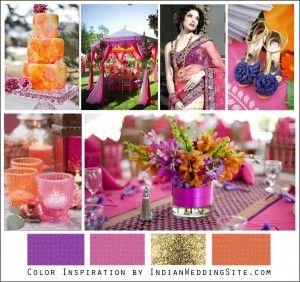 Purple Pink Orange Wedding Palette Indianweddingsite Blog Real Indian Weddings Trends Planning Tips Vendors Ideaore