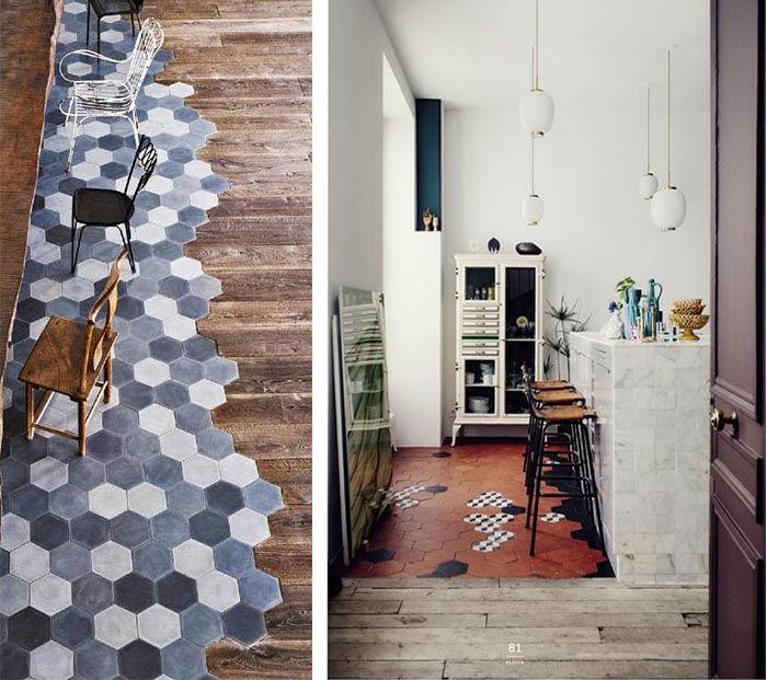 Carreaux De Ciment Idées Déco Originales Ciment Idee Deco - Parquet ou carrelage cuisine pour idees de deco de cuisine