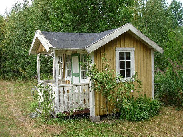 Charming cottage studio by margreet   Backyard, She sheds ...