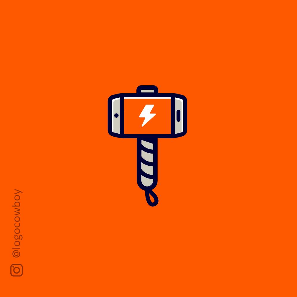 Thorcall Hammer Phone Logo Phone Logo Logos Hammer Logo