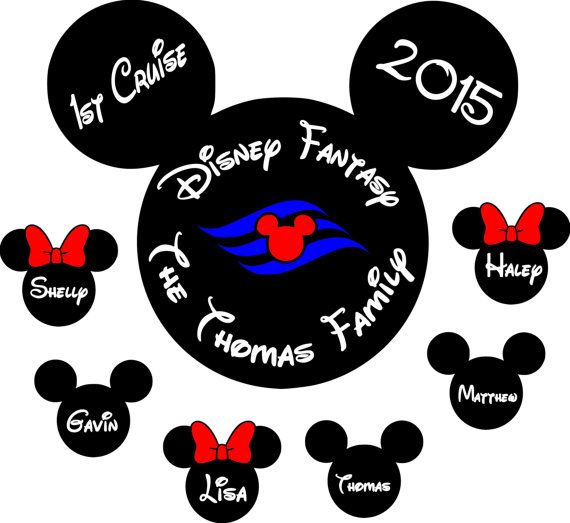 Custom Disney inspired Cruise Magnet Wreath Holiday Personalized Door Magnet Sign