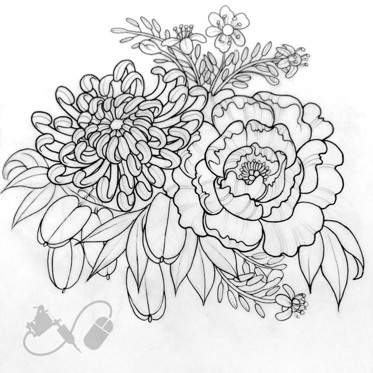 Chrysanthemum Tattoo Black And White Google Search Chrysanthemum Tattoo Tattoo Artists Tattoo Illustration