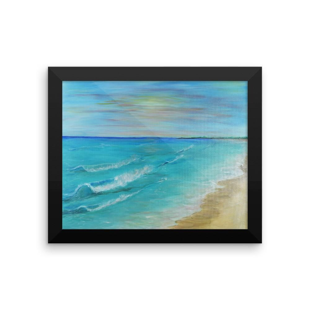 """SMHD Galleries """"warm waves"""" Framed photo paper poster"""
