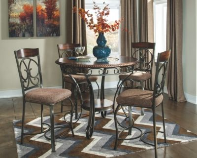 Glambrey Counter Height Dining Room Tableashley Homestore Entrancing Height Dining Room Table Inspiration Design