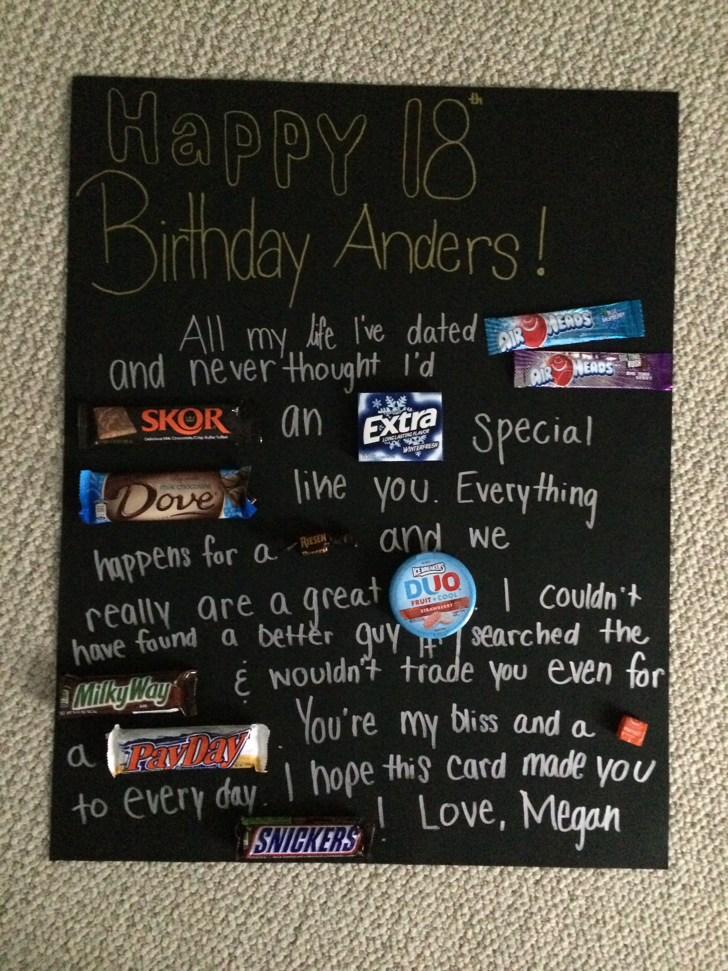 Best 18Th Birthday Gift Ideas For Boyfriend From S 18th Card Quotes Pinterest Source Image