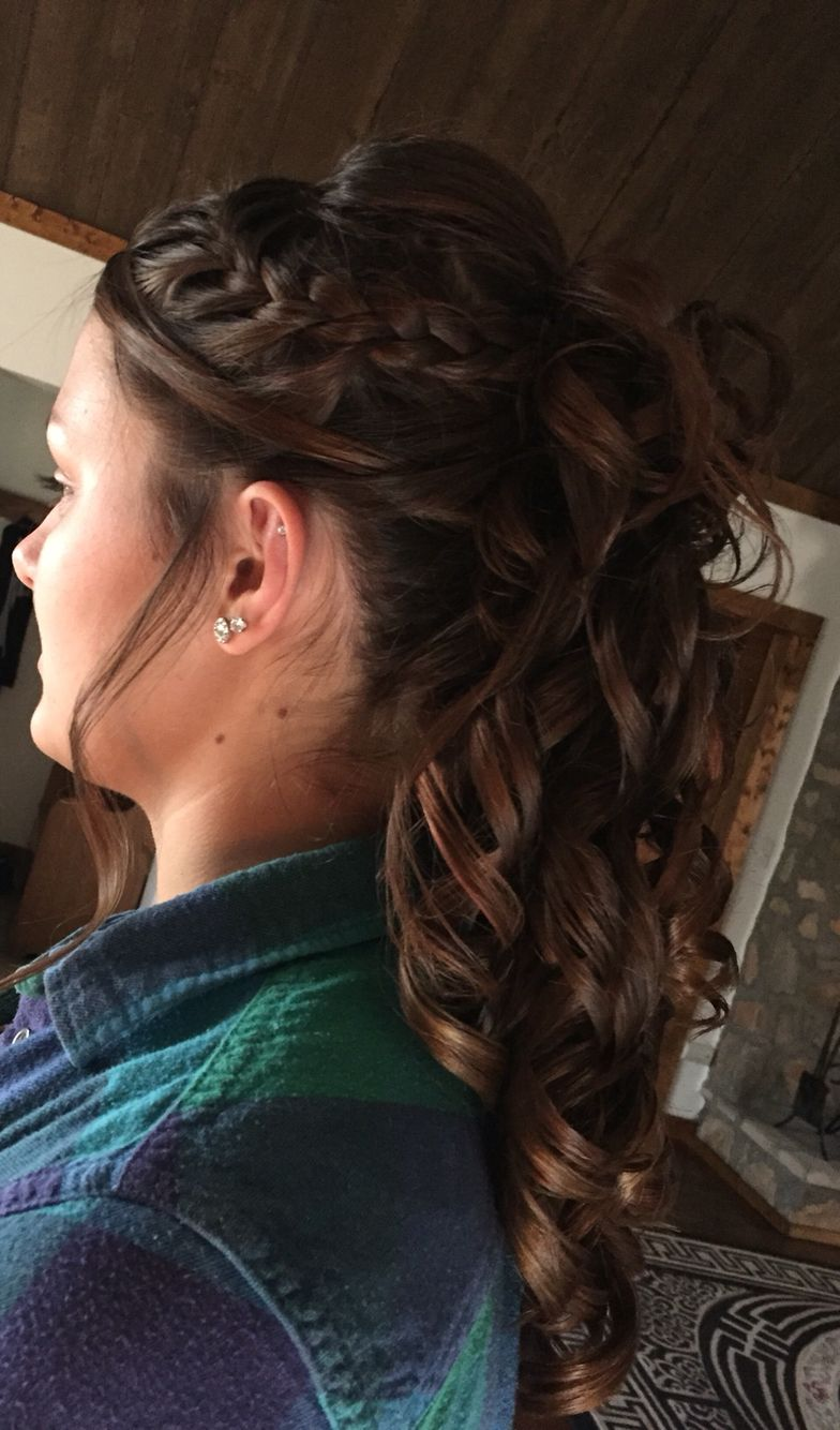 Braided ponytail  Formal hair