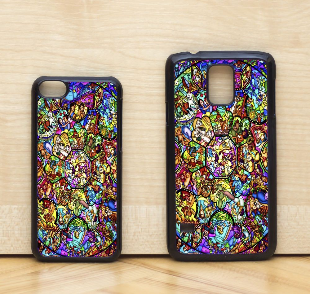 NEW Disney All Characters Mosaic Glass Window Case Cover iPhone & Samsung & HTC #UnbrandedGeneric