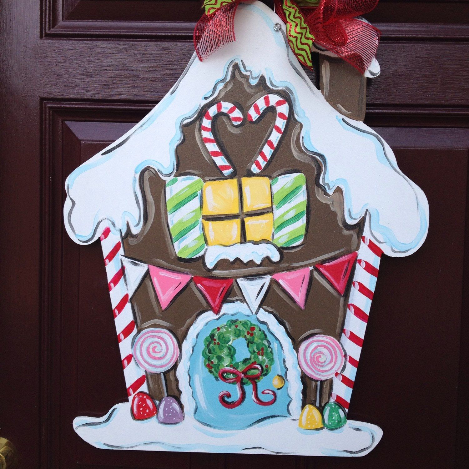 Another gingerbread door hanger done in pastel colors at ...