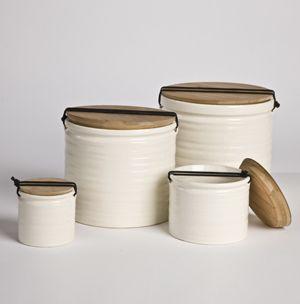 Thé blanc café sucre cuisine charme de stockage pots boîtes coeur couvercle en céramique