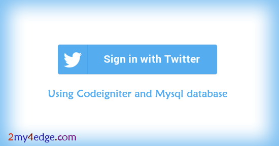 Twitter login / Signup script using codeigniter php