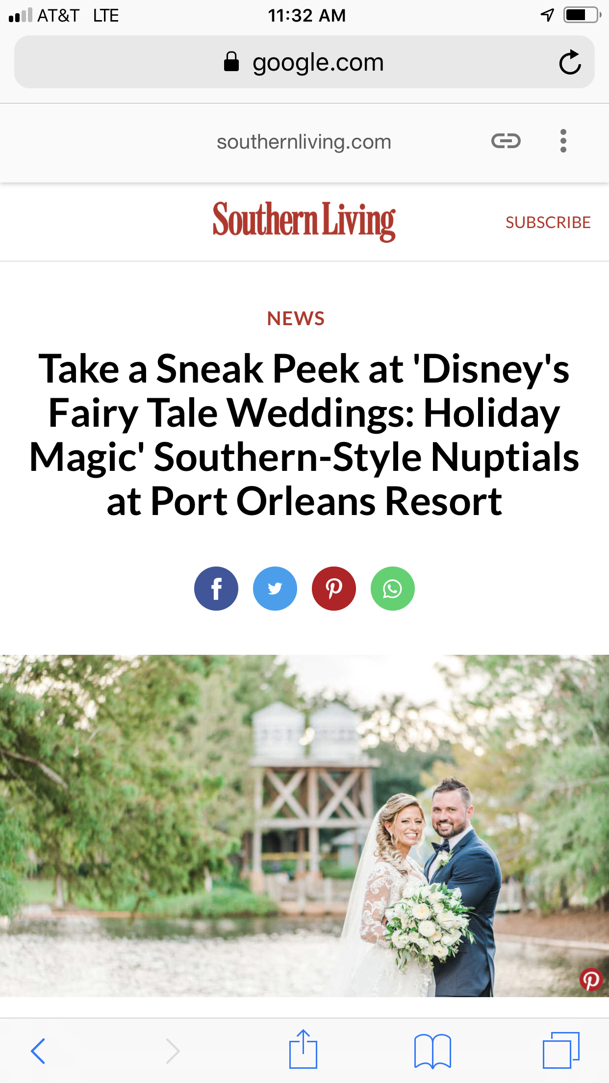 Southern Living Magazine Christina And Daniel Fairy Tale Wedding Port Orleans Resort Fairy Wedding