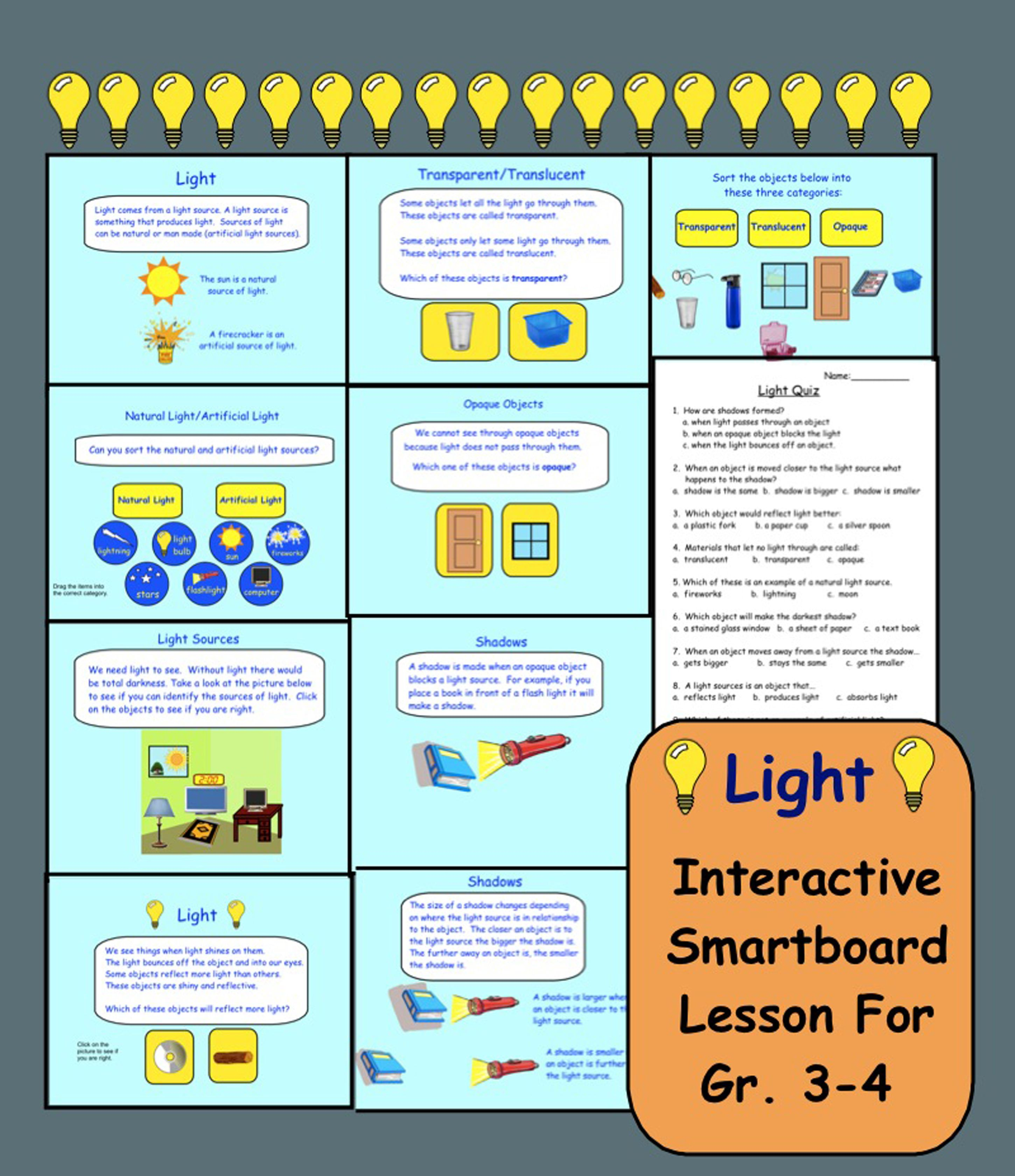 Worksheets Natural And Artificial Sources Of Light