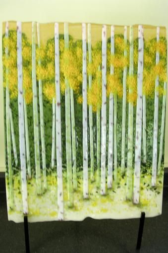 fused snowflakes | Autumn Aspens | Fused Glass Projects, Tutorials, Forums, and More