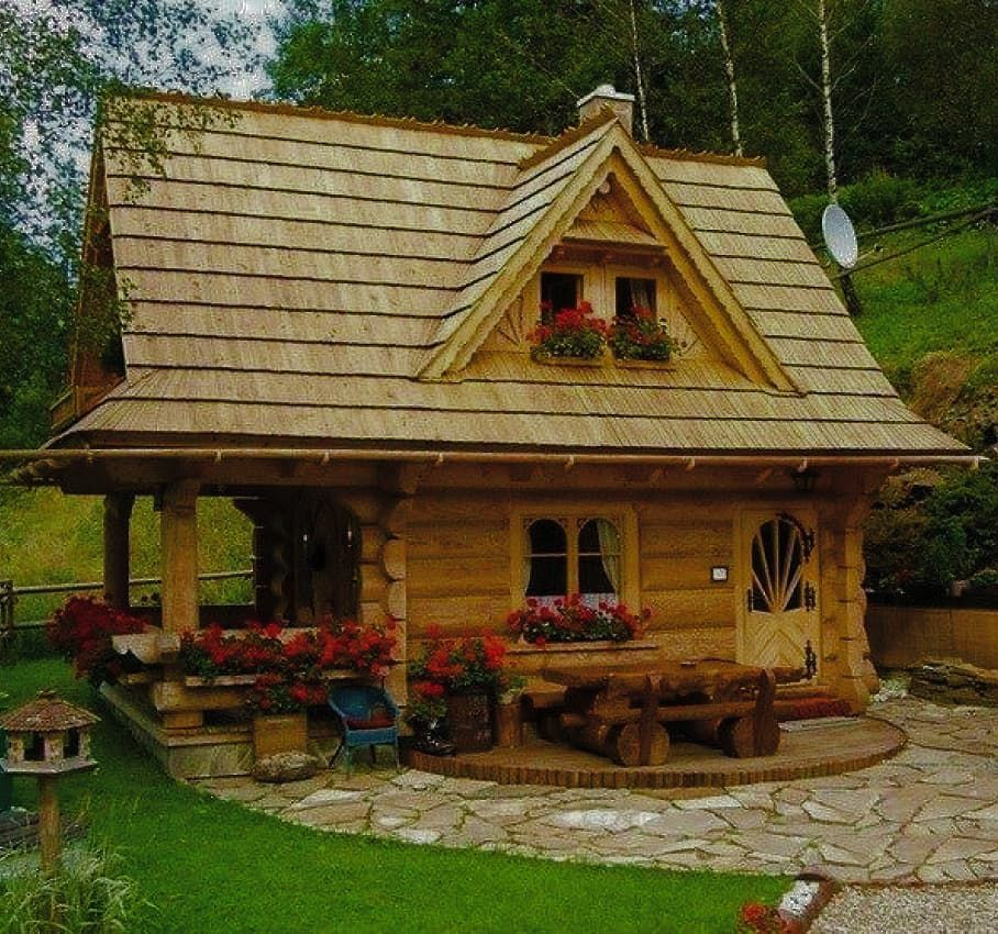2 466 Me Gusta 22 Comentarios Cozy Houses And Interiors Cozy Houses And Interiors En Instagram Cabin Home Small Log Cabin Cabin Homes Log Cabin Homes