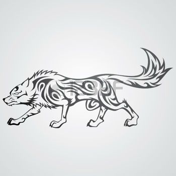 dessin tribal wolf tattoo illustration dessin tribal. Black Bedroom Furniture Sets. Home Design Ideas