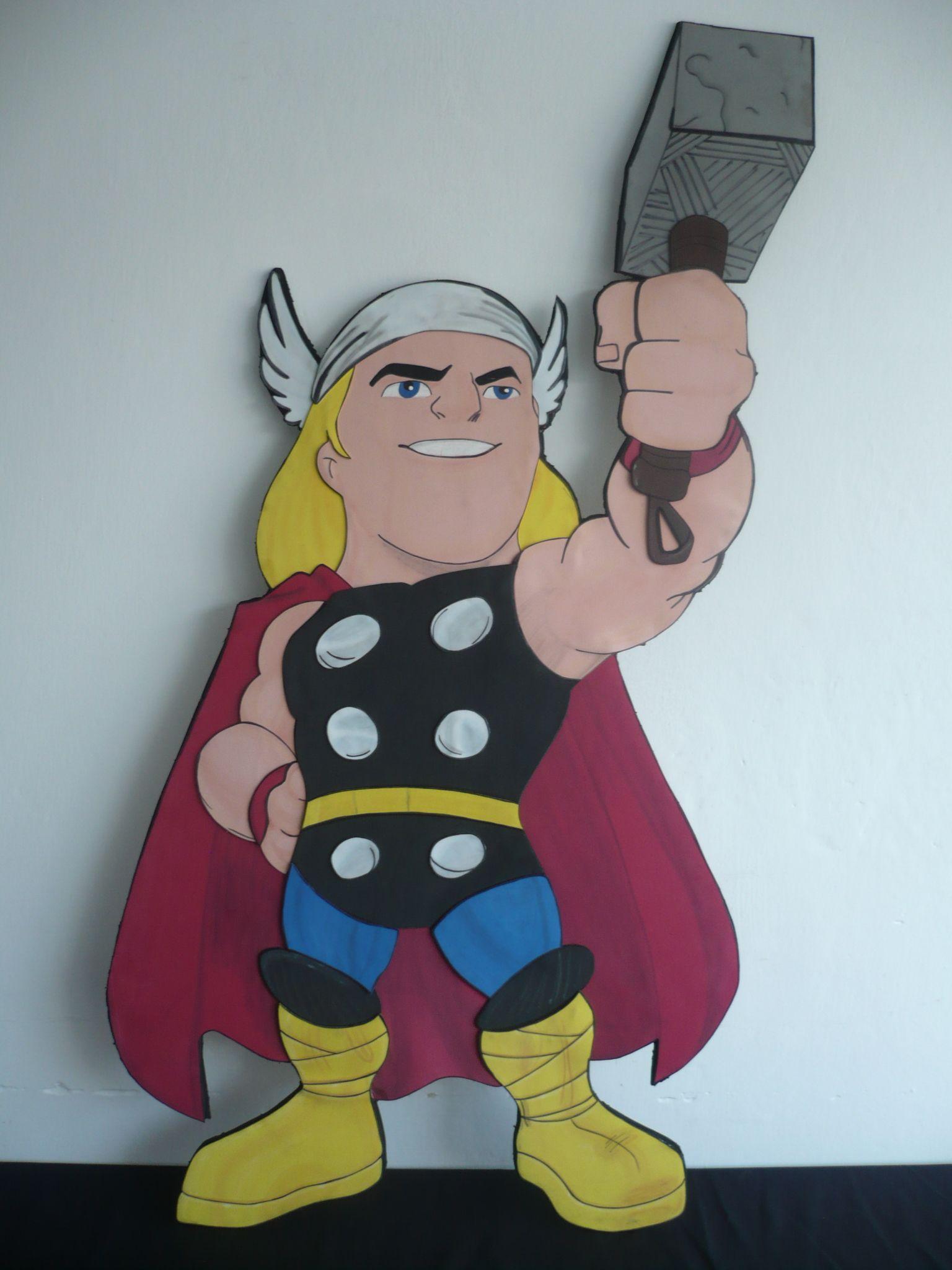 Thor Super Hero Squad, Foami 120 cm   Molde   Pinterest
