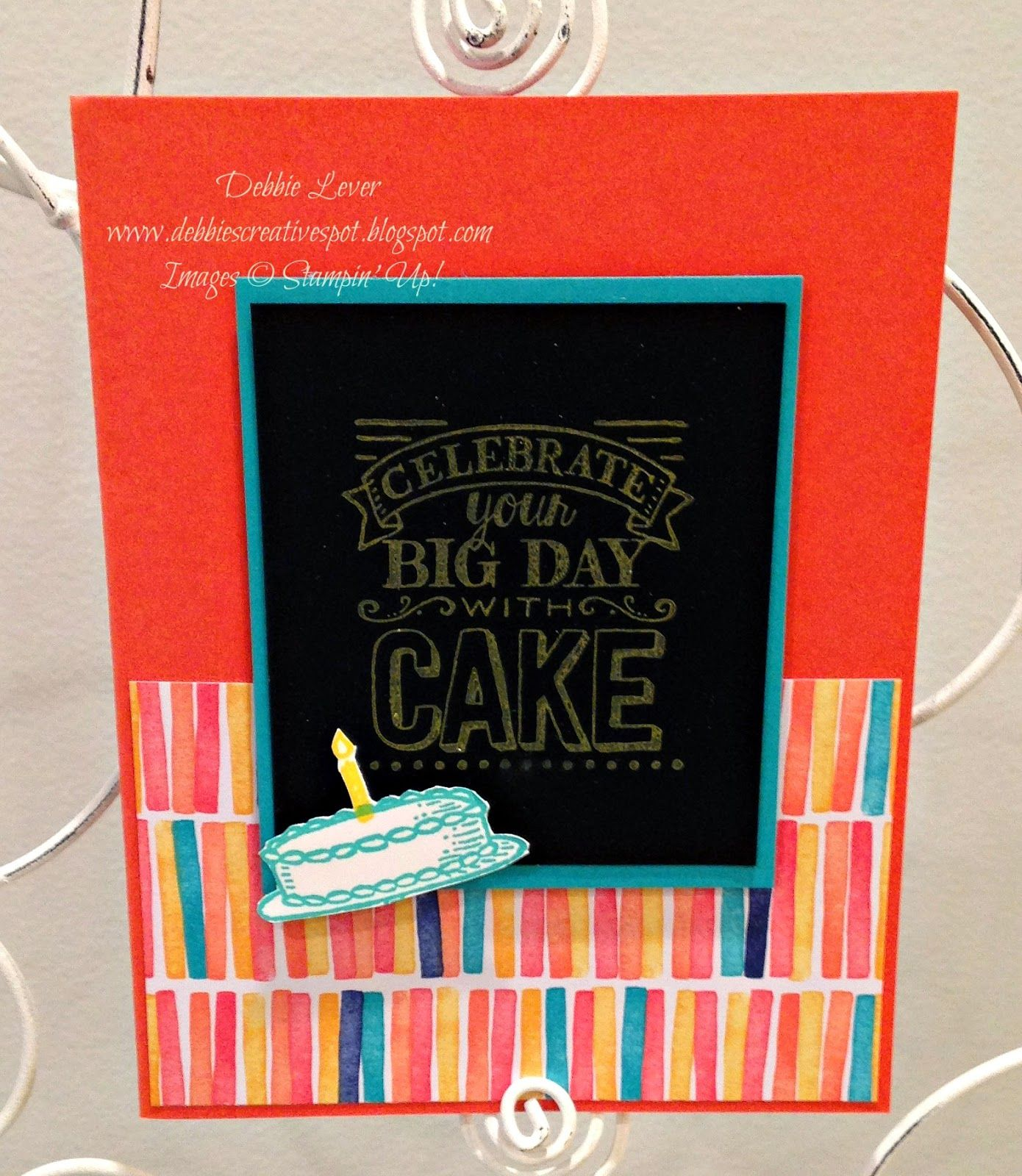 Debbieus creative spot big day saleabration stamp set stampin