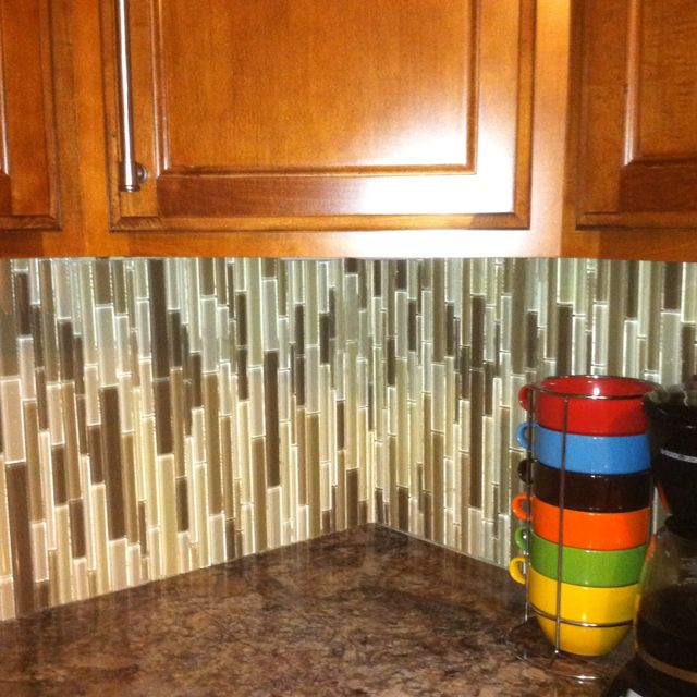 this is an interesting and innovative way to install backsplash