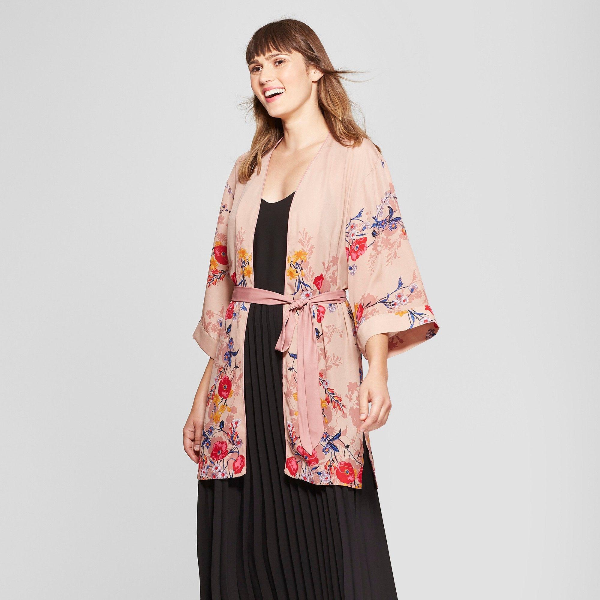 171ab396d61f8 Women's Floral Kimono - A New Day Blush XL/XXL, Pink | Products ...