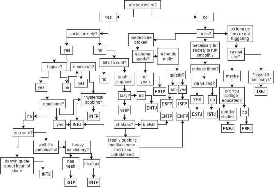 Mbti Flow Chart Kymei Rae  Photo  Psychology    Mbti