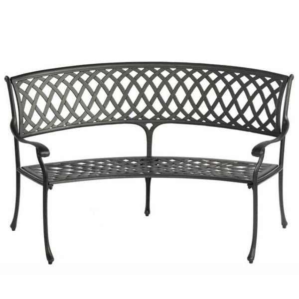 Outstanding Curved Outdoor Bench Amalfi Curved Aluminium Garden Bench Gmtry Best Dining Table And Chair Ideas Images Gmtryco