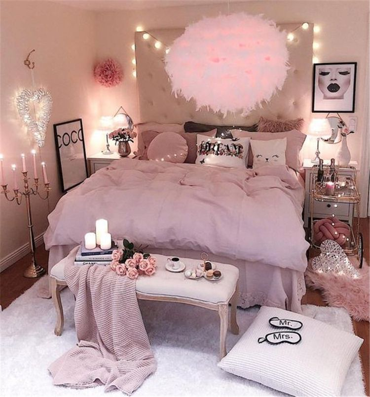 35 Best Diy Pink Living Room Decor Ideas For Teens Girls Pink Bedroom Decor Pink Living Room Girl Bedroom Designs