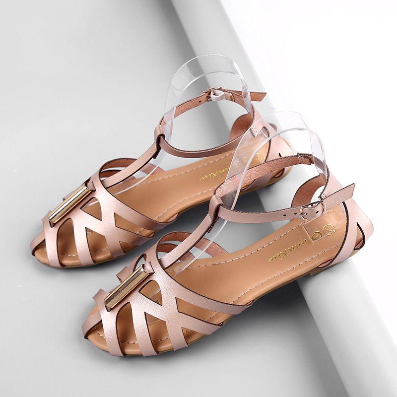 197fd775b2 2016 Novos Sapatos de Verão Mulheres Apartamentos Mulheres PU Eleather  Sapatos Baixos Sandálias Femininas Casuais Sandálias Confortáveis Tamanho  36 41 em ...