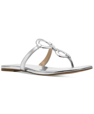 fd71e4c96 Silver · MICHAEL KORS Michael Michael Kors Claudia Embellished Flat Thong  Sandals.