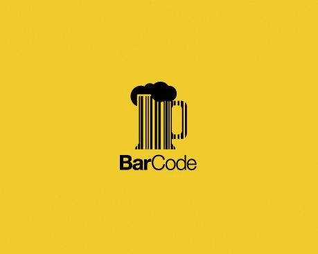 Clever play on words, good choice of colour as it is suggestive of the colour of beer. The barcode continues into the text with the use of differently weighted text.