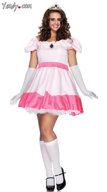 Plus Size Princess Peach Costume | Halloween in 2019 | Princess ...