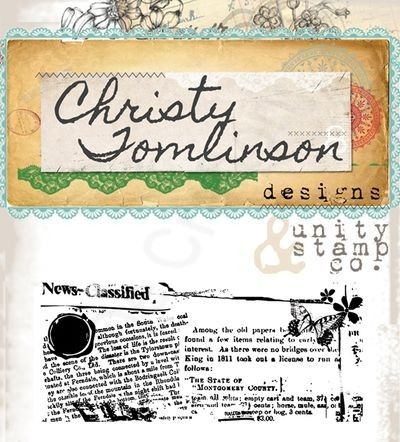 Unity Stamps - Christy Tomlinson - Classified Newsprint