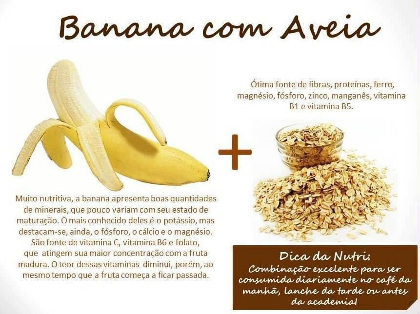 #Benefícios de #banana com #aveia. Saiba como fazer mais coisas em http://www.comofazer.org