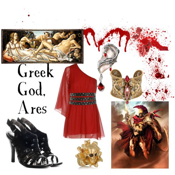 Ares the Greek God of War and Bloodlust  by old-clock-long-time on Polyvore.    sc 1 st  Pinterest & Ares the Greek God of War and Bloodlust | Greek Polyvore and Costumes