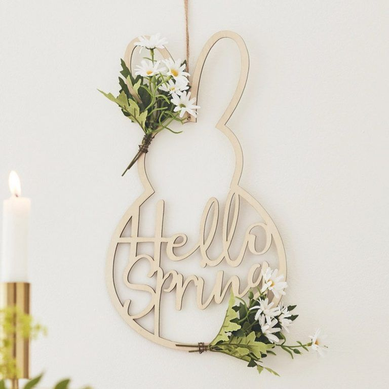 Easter Ideas The Best Collection Of Pinterest Top Pins - Easter decorations wreath, Easter door decor, Bunny door decoration, Easter bunny wreath, Easter wreaths, Easter bunny decorations - Are you on the hunt for some Easter Ideas  We've rounded up all the most popular ideas and you are going to love them! Check them all out now