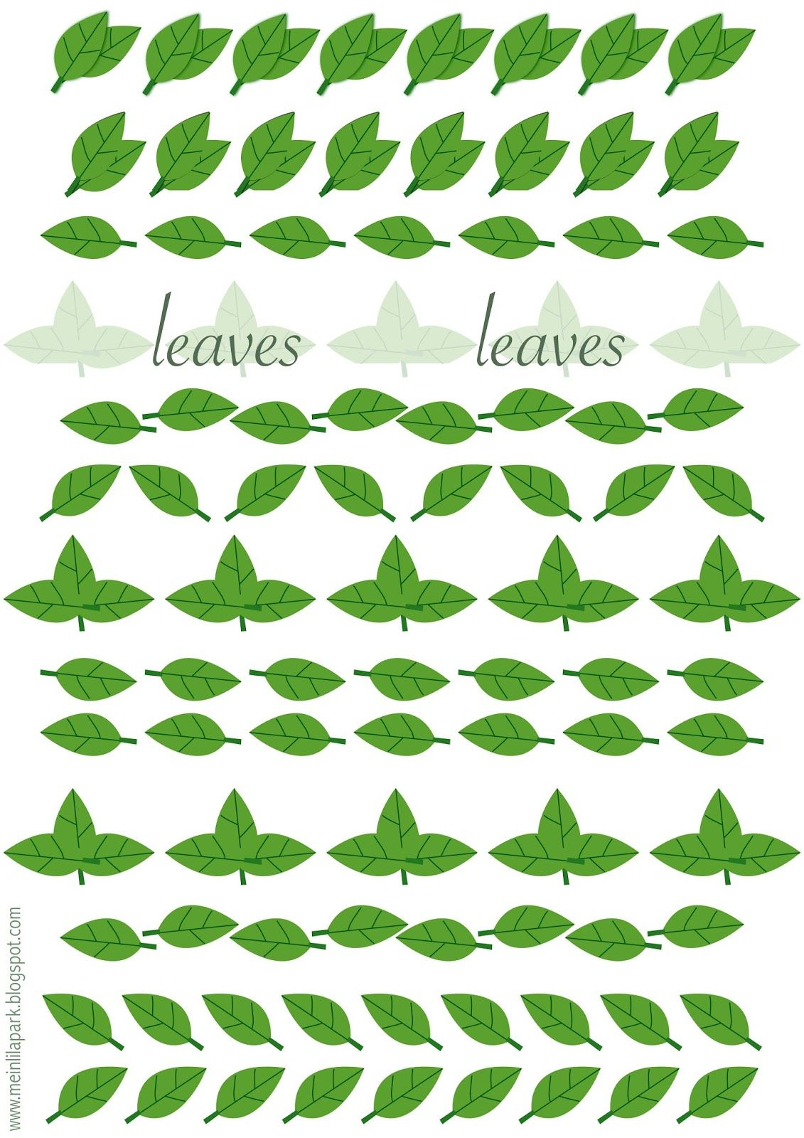 Free Printable Leaves Ornament Sheet 2