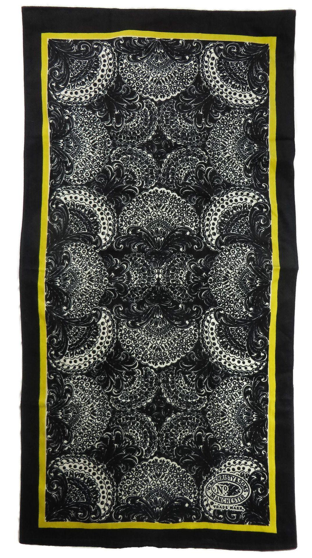 Luxury Beach Towel Christy Of England Velour Petra Ebony Black White Yellow Towels