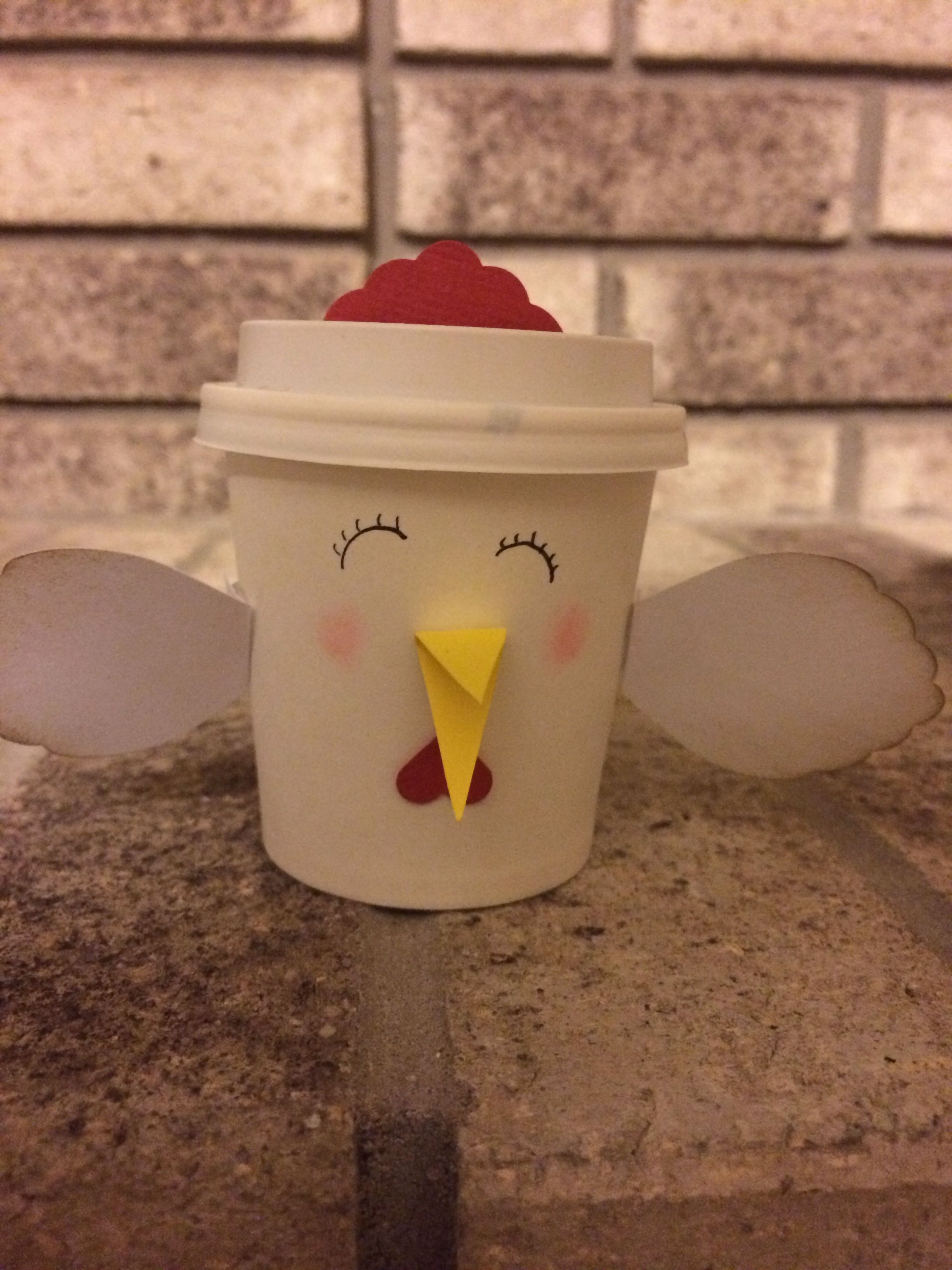 Happy Hen Mini Coffee Cup Created by Dianne Jackson at ...