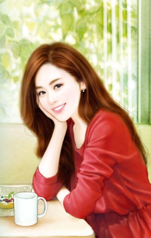 Blondes Haar des chinesischen Mädchens