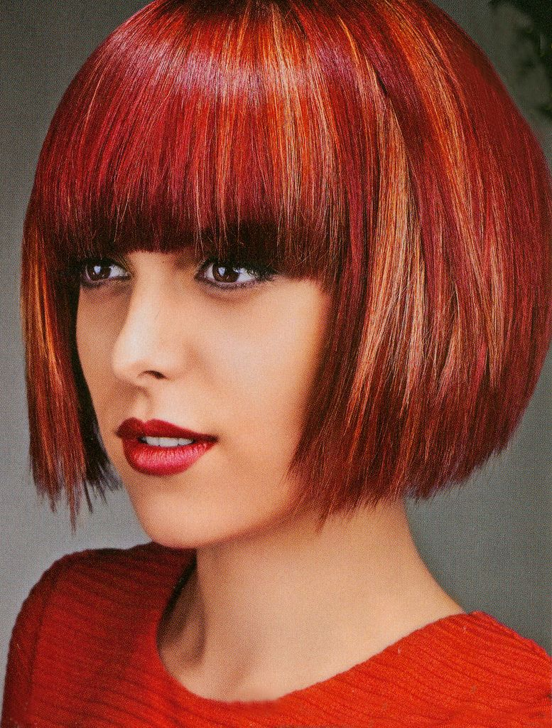 Red Bob With Bangs Bob Hairstyles Red Bob Hair Vintage Hairstyles