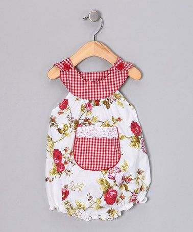 Take a look at this Red Roses Bubble Bodysuit - Infant by Beary Basics on #zulily today!