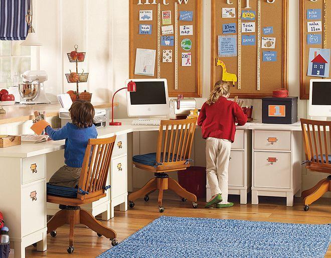 Pottery Barn Kids White Schoolhouse Desk Homework Room Kids Corner Desk Room