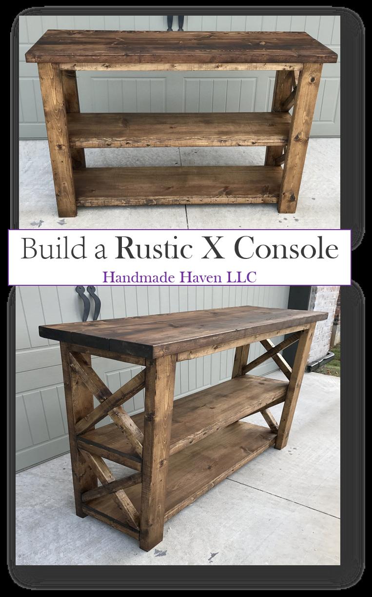 X Console Table | decor | Diy furniture plans, Diy furniture ...