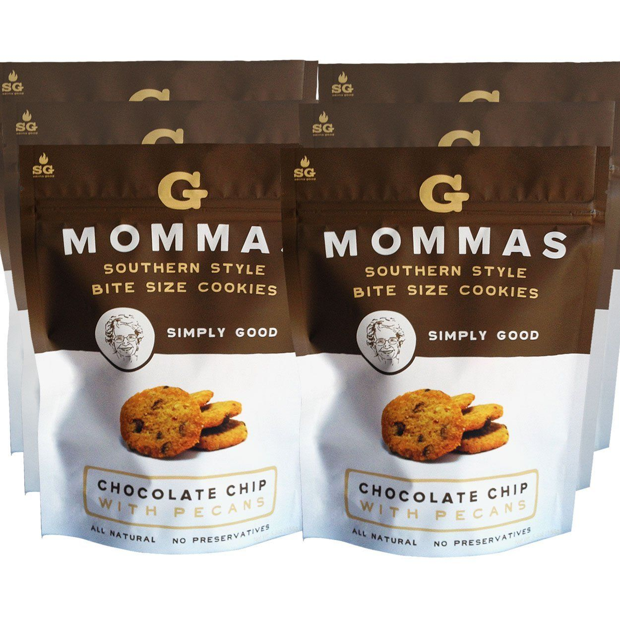 Chocolate Chip Cookies with Pecan - G Mommas Homemade Cookies - 6 Pack ** Find out more about the great product at the image link.