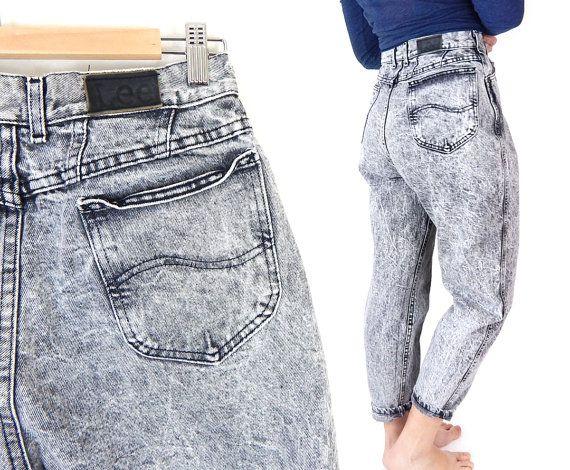 Vintage High Waisted Acid Wash Lee Jeans