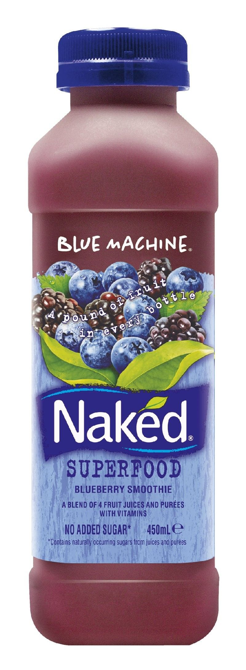 Naked Juice Blue Machine Superfood Blueberry Smoothie Foods I