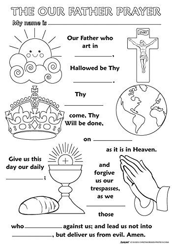Childrens Religious Coloring Posters (Our Father Prayer) ... https ...