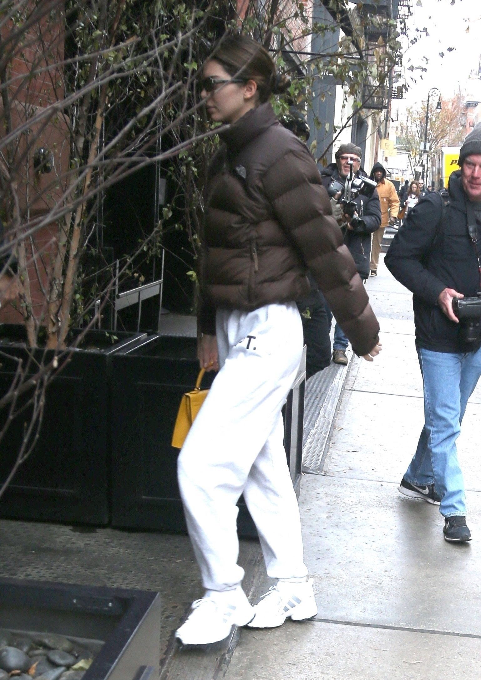 November 19 2019 New York Kendall Jenner Street Style North Face Puffer Jacket North Face Puffer [ 2173 x 1538 Pixel ]