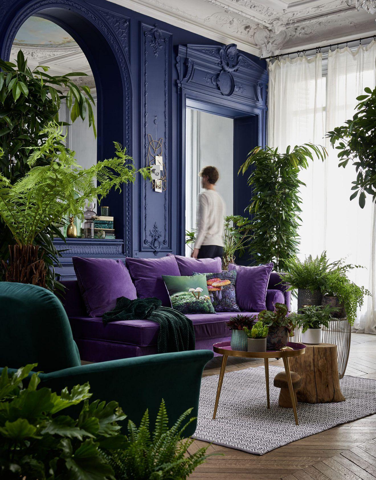 Les 16 tendances déco 16 incontournables  Blue living room