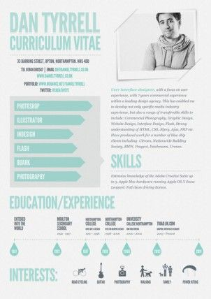 Resume Inspiration: 30 Of The Best Resume Designs | Infographic CV ...